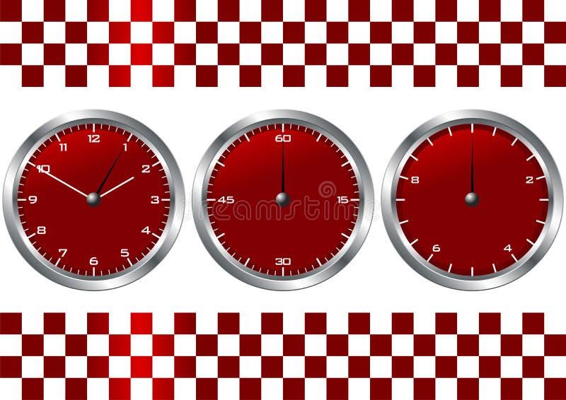 Rotuhren und -chronographen vektor abbildung