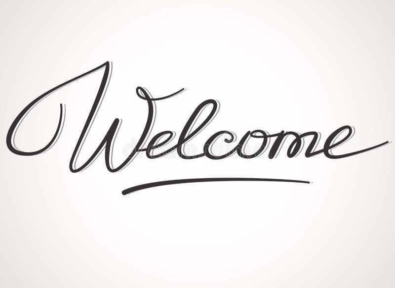 Rotulação bem-vinda ilustração royalty free