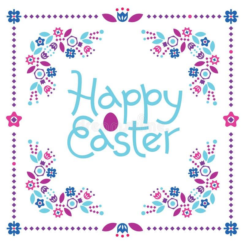 Rotulação colorida da Páscoa feliz ilustração royalty free