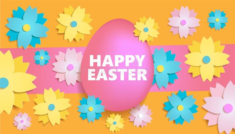 Rotulação colorida da Páscoa feliz ilustração stock