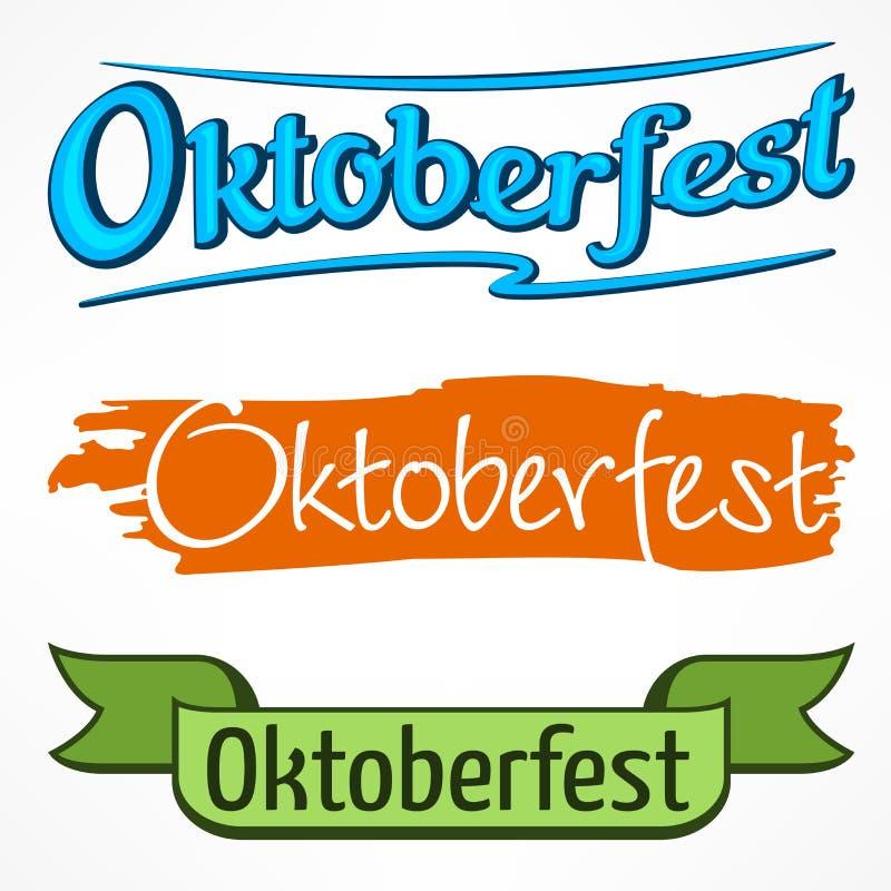 Rotulação da cor de Oktoberfest ilustração royalty free