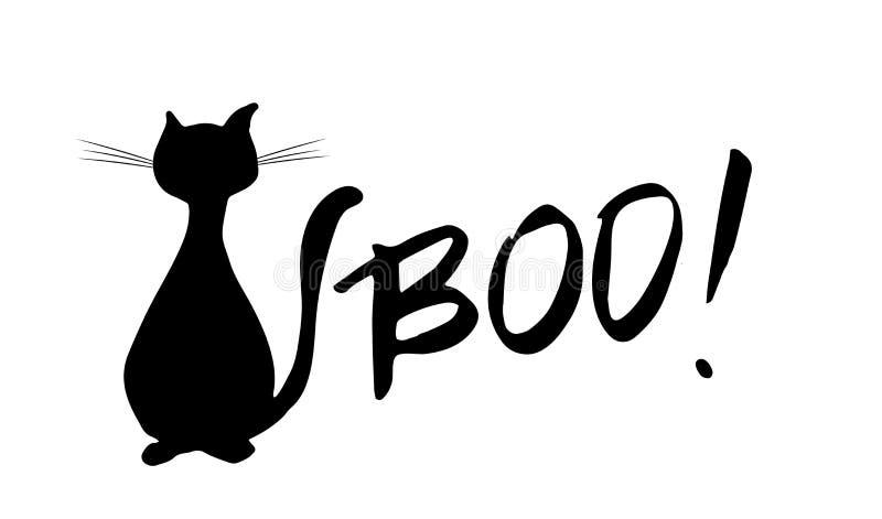 Rotulação da mão de Boo Ink Caligrafia moderna da escova ilustração stock