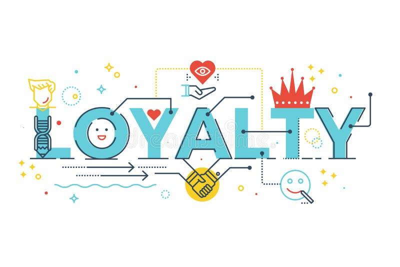 Rotulação da palavra da lealdade ilustração royalty free