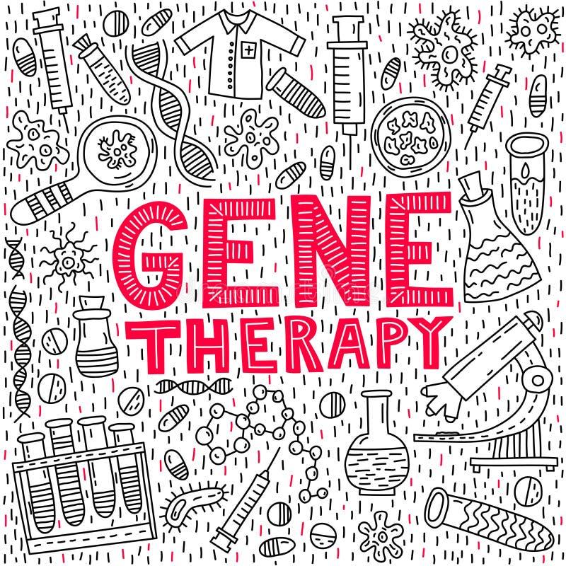 Rotulação da terapia genética ilustração stock