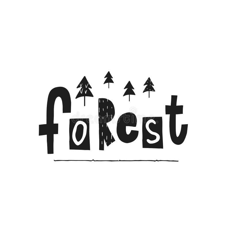 Rotulação das citações da cópia da camisa de Forest Global Warming ilustração royalty free