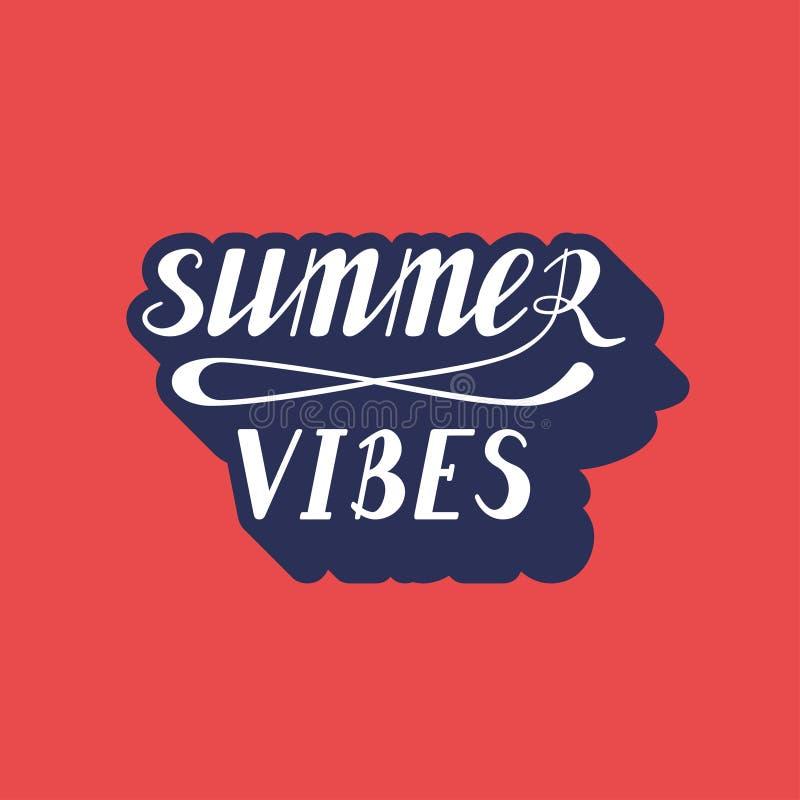 Rotulação das vibrações do verão ilustração do vetor