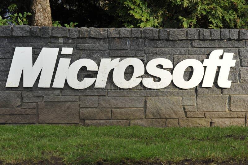 Rotulação de Microsoft foto de stock