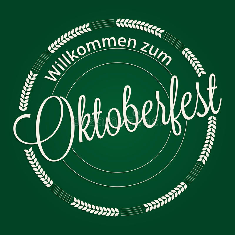 Rotulação de Oktoberfest ilustração royalty free