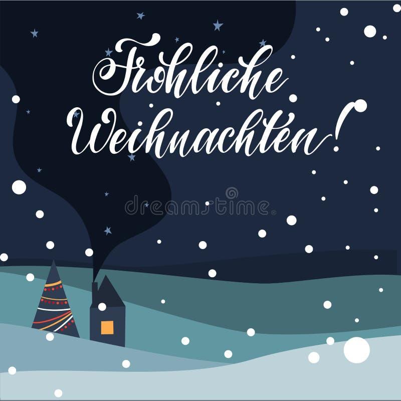 Rotulação do Feliz Natal ilustração stock