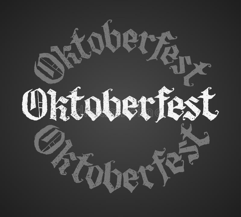 Rotulação do giz de Oktoberfest Única palavra ilustração stock