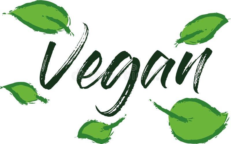Rotulação do vegetariano para o projeto do alimento ilustração do vetor