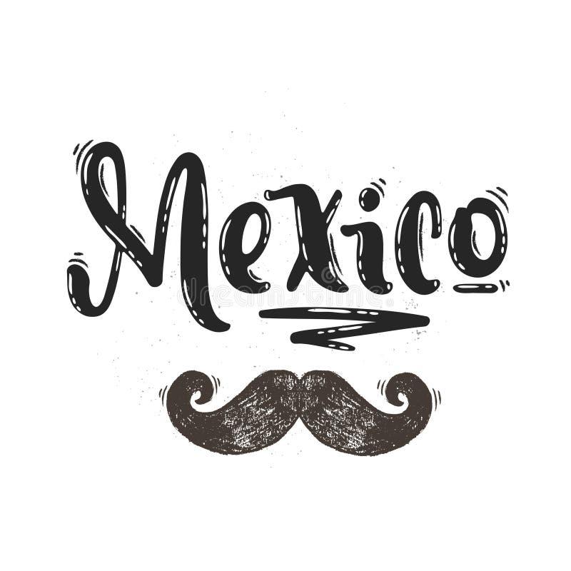 Rotulação do vetor de México ilustração stock