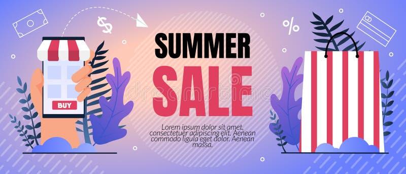 Rotulação dos por cento da venda do verão da ilustração do vetor ilustração stock