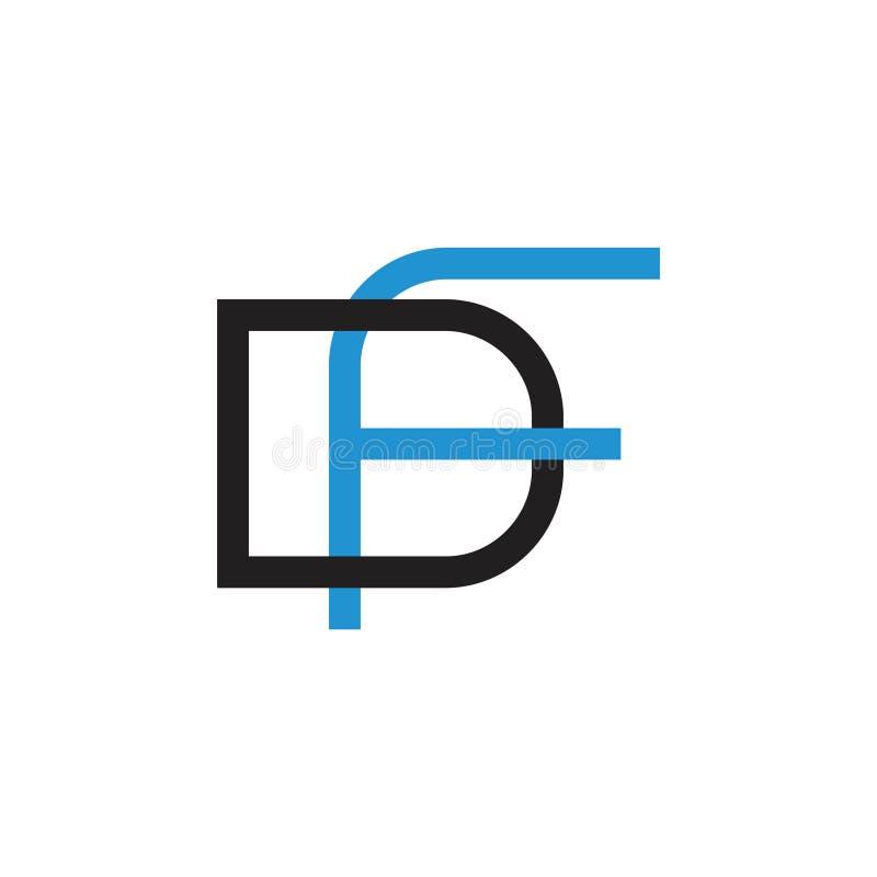 Rotula linhas ligadas simples vetor do df do logotipo ilustração royalty free