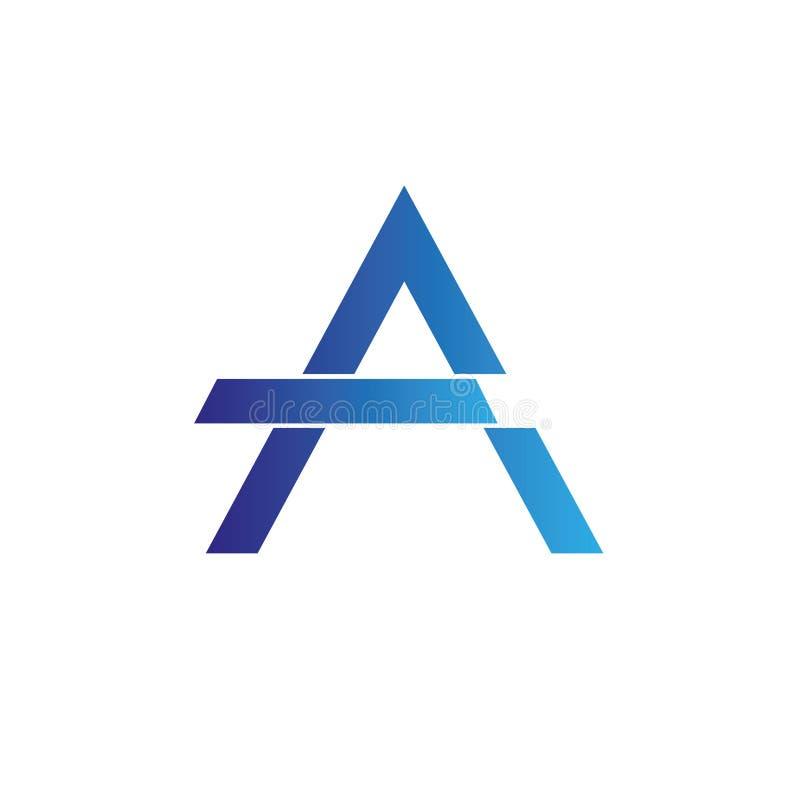 Rotula o logotipo de A elementos do molde do projeto ilustração do vetor