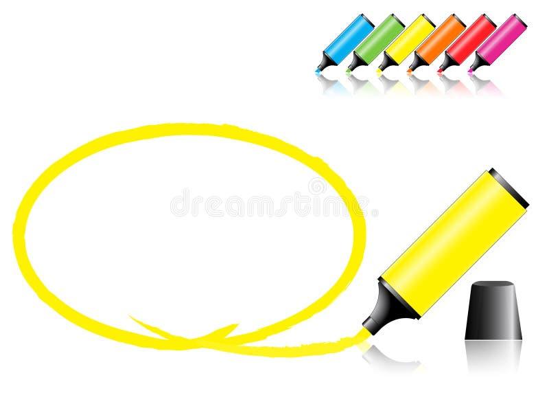 Rotuladores con un área seleccionada libre illustration