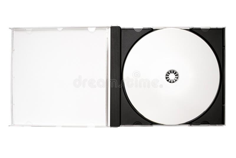 Rotulagem do disco - caixa aberta do disco com trajeto fotografia de stock