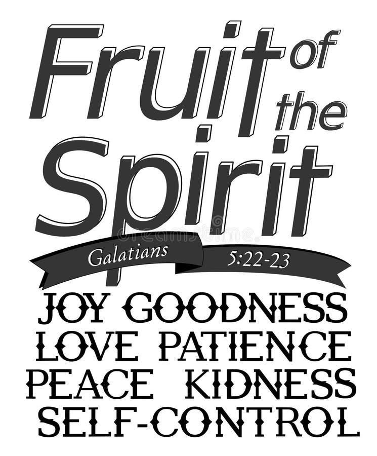 Rotulando 'o fruto do espírito ' ilustração stock