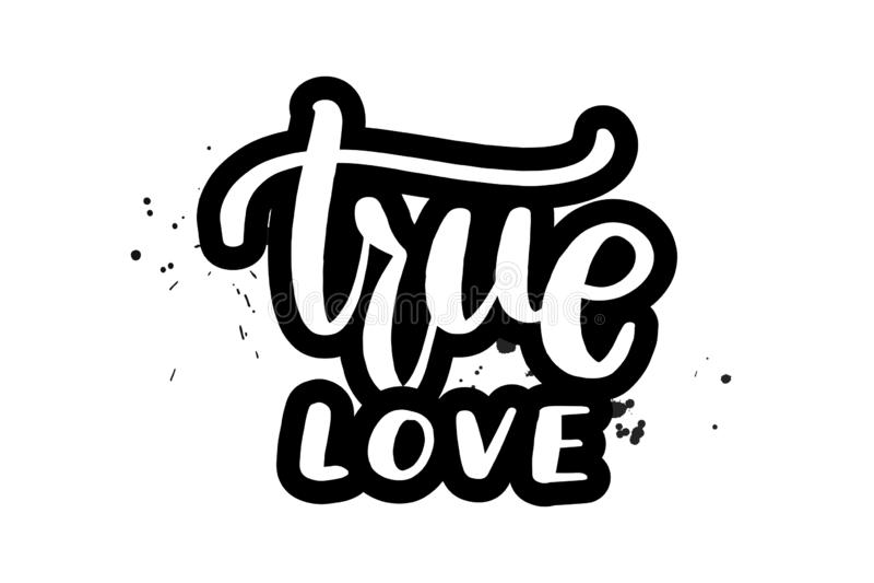 Rotulando o amor verdadeiro ilustração stock