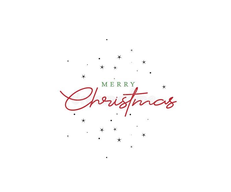 Rotulando o Feliz Natal datilografe o fundo do texto ilustração stock