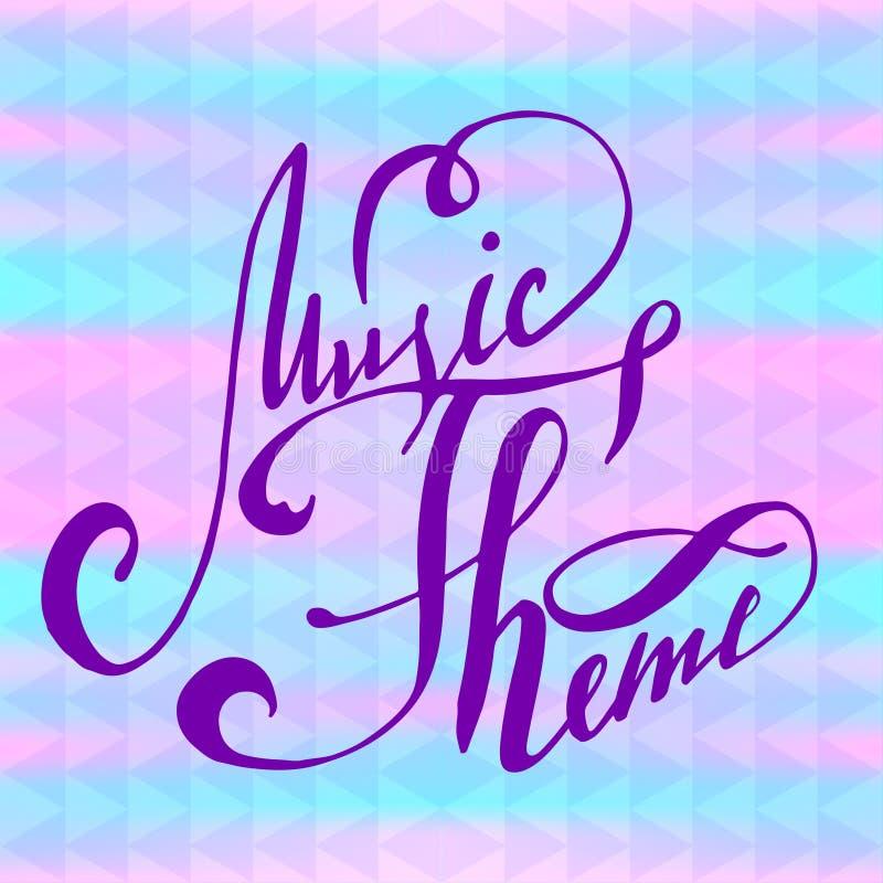 Rotulando - o tema da música, abstrai o fundo com rotulação ilustração do vetor