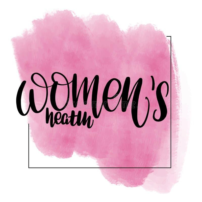 Rotulando a saúde das mulheres ilustração do vetor