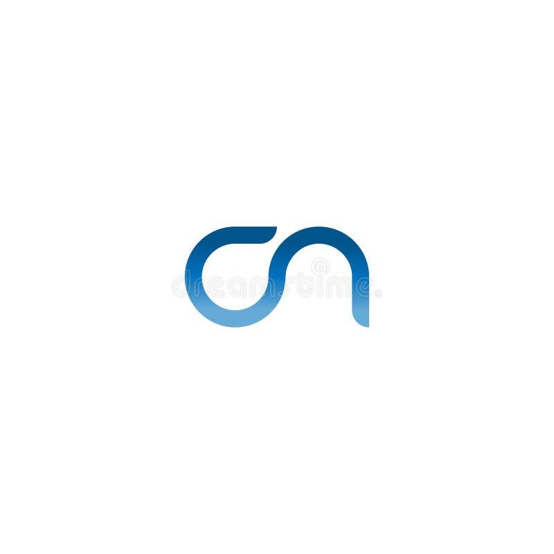Rotule marca do vetor da inicial do logotipo de C e de N C e vetor Logo Design Template do sumário da letra de N Ícone tipográfic ilustração royalty free