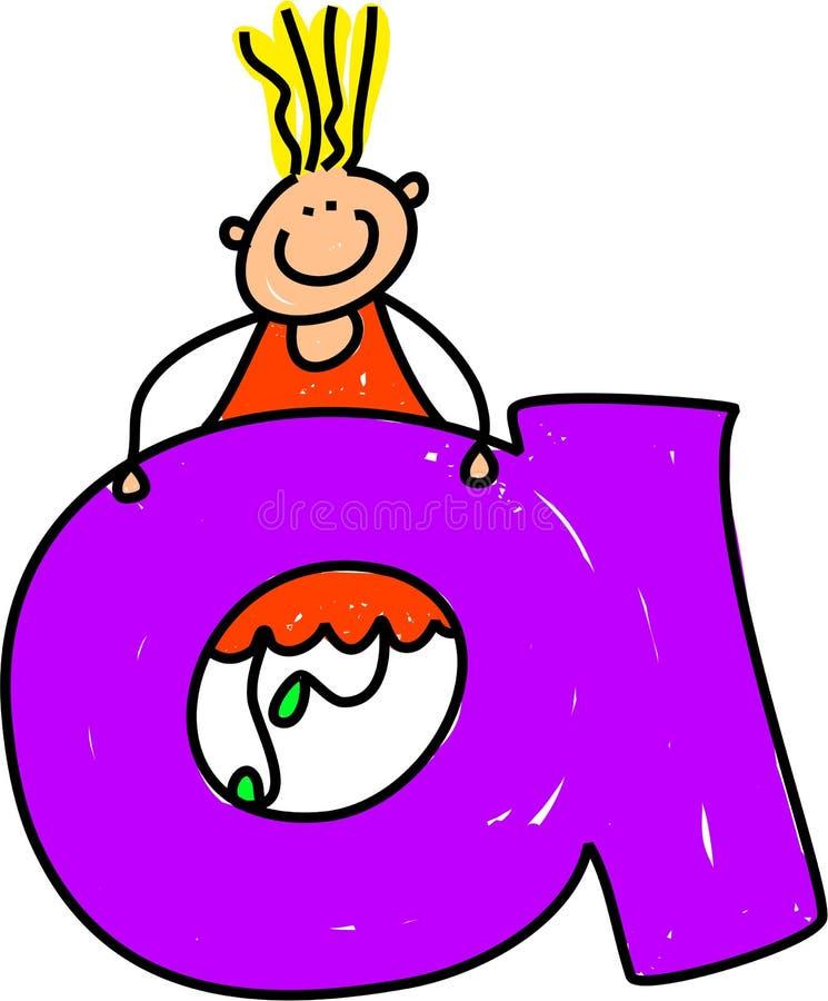 Rotule a menina de A ilustração stock