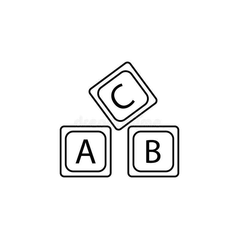 rotule o ícone do alfabeto do logotipo de A B C ilustração royalty free