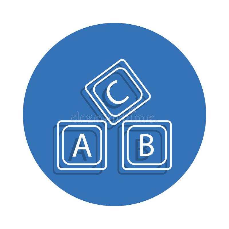 rotule o ícone do crachá do alfabeto do logotipo de A B C Elemento da educação para o conceito e o ícone móveis dos apps da Web L ilustração do vetor