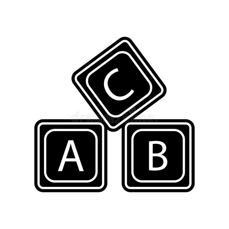rotule o ?cone do alfabeto do logotipo de A B C Elemento da educa??o para o conceito e o ?cone m?veis dos apps da Web Glyph, ?con ilustração do vetor