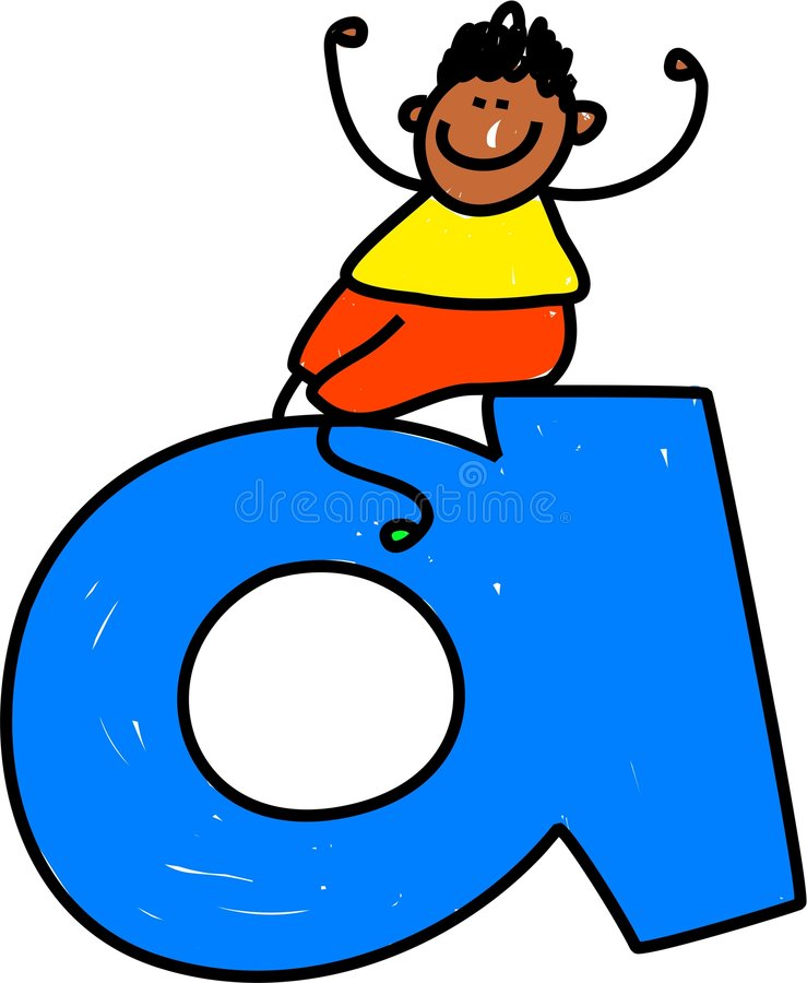 Rotule o menino de A ilustração royalty free
