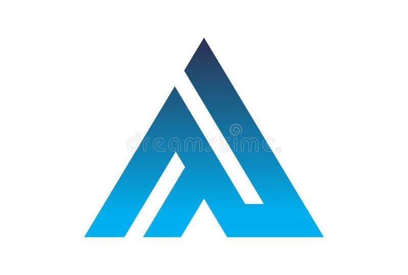 Rotule o vetor do dsign do logotipo de A ilustração royalty free