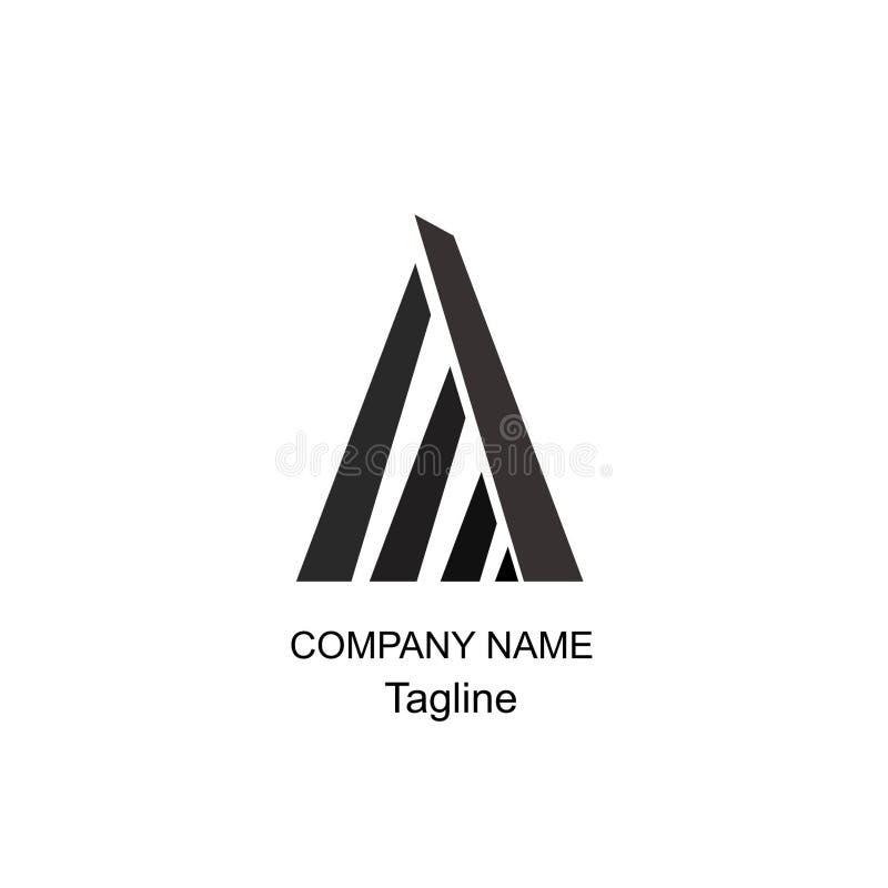 Rotule um logotipo de geomtric imagens de stock