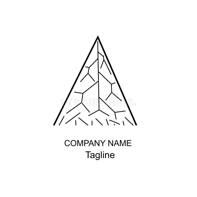 Rotule um logotipo do projeto simples imagens de stock