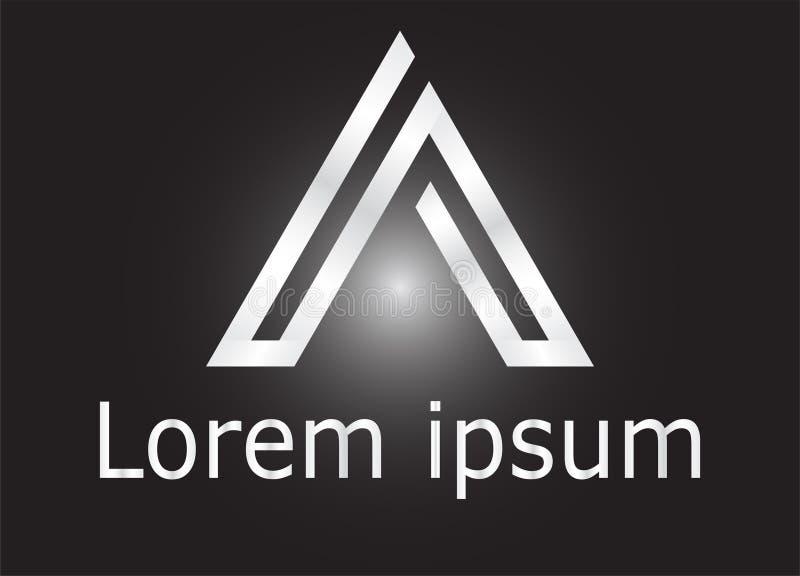 Rotule uma linha ícone do alfabeto do logotipo do projeto ilustração stock