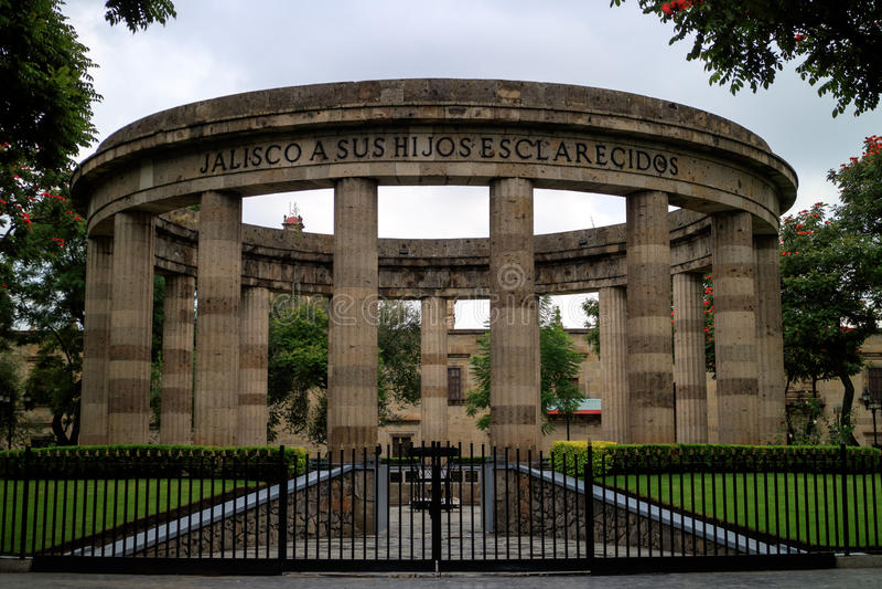 Rotunda επιφανούς Jalisciences στοκ φωτογραφίες με δικαίωμα ελεύθερης χρήσης