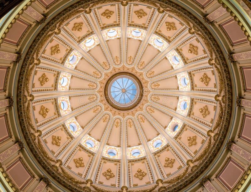 Rotunda, κράτος Capitol, Σακραμέντο Καλιφόρνιας στοκ εικόνα με δικαίωμα ελεύθερης χρήσης