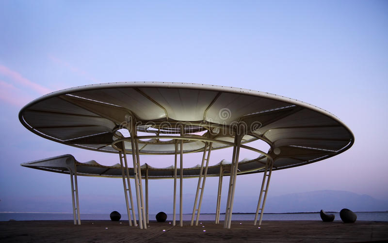 Rotunda στη νεκρή θάλασσα στοκ εικόνα