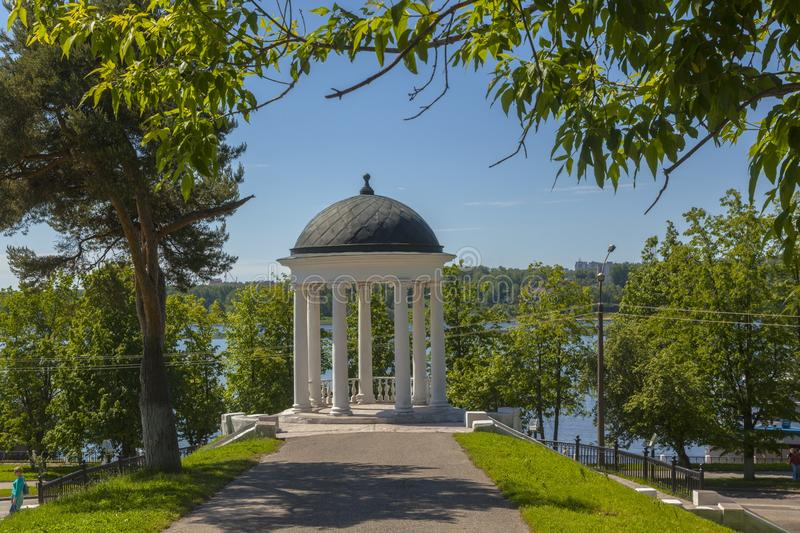 The Rotunda on the banks of the river royalty free stock images