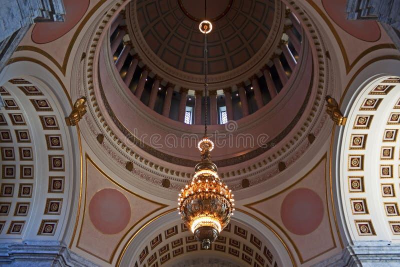 Rotunda, capitol de l'état de Washington image stock