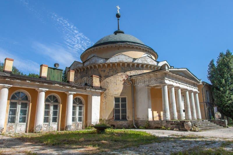Rotunda-crypt in manor Sukhanovo. In summer royalty free stock photo