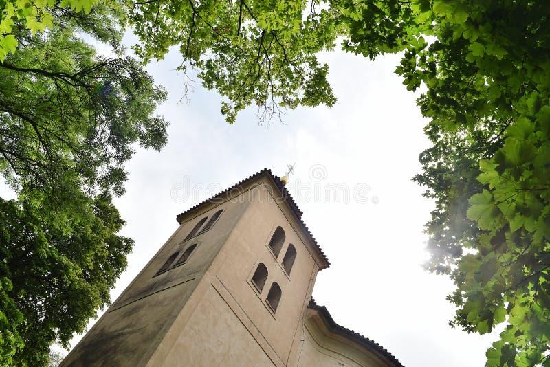 Rotunda de st Petr e Pavel em Budec fotos de stock royalty free