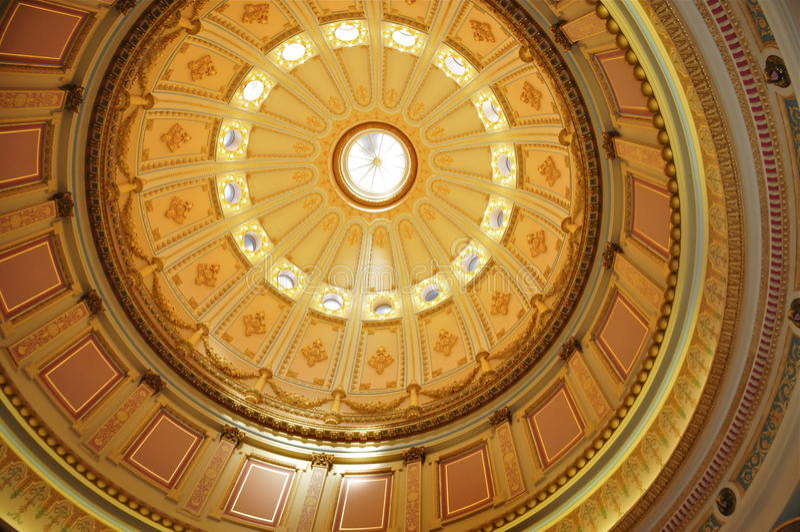 Rotunda du capitol d'état de la Californie images stock