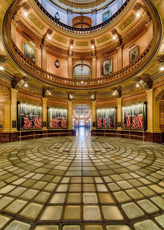 Rotunda glass floor of Michigan Capitol royalty free stock photography