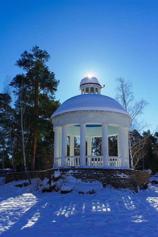 Rotunda i yet A Gagarin kultur och rekreation parkerar royaltyfri fotografi