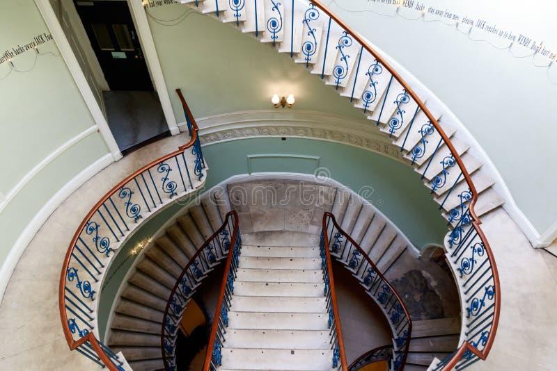 Rotunda Nelson Stair em Somerset House fotografia de stock