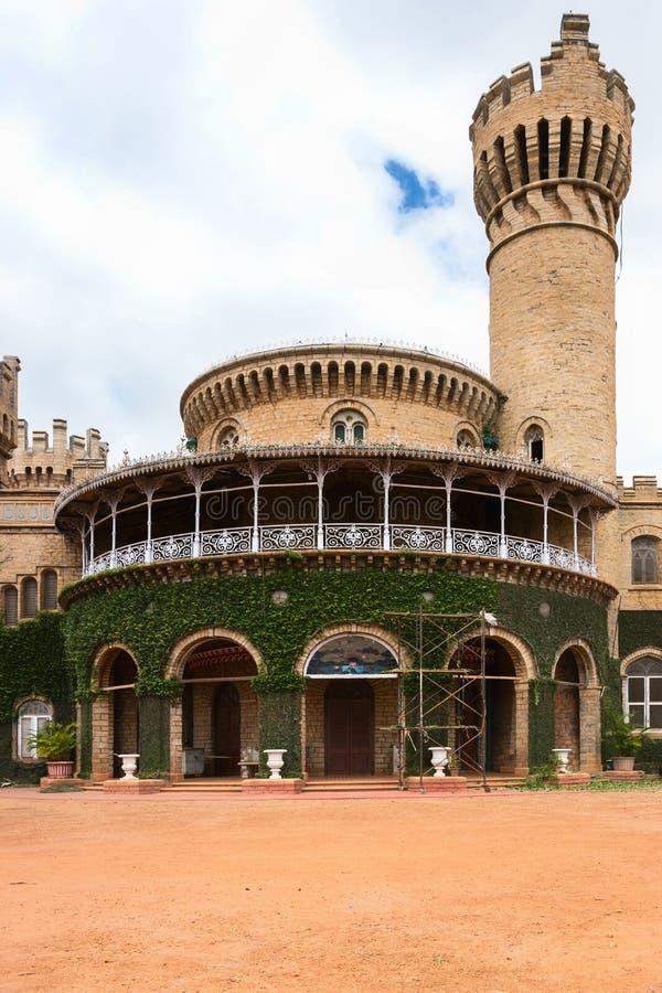 Rotunda and watchtower of Bengaluru Palace. Detail of the majestic Bangalore Palace showing rotunda and watchtower in Bengaluru, India stock photography