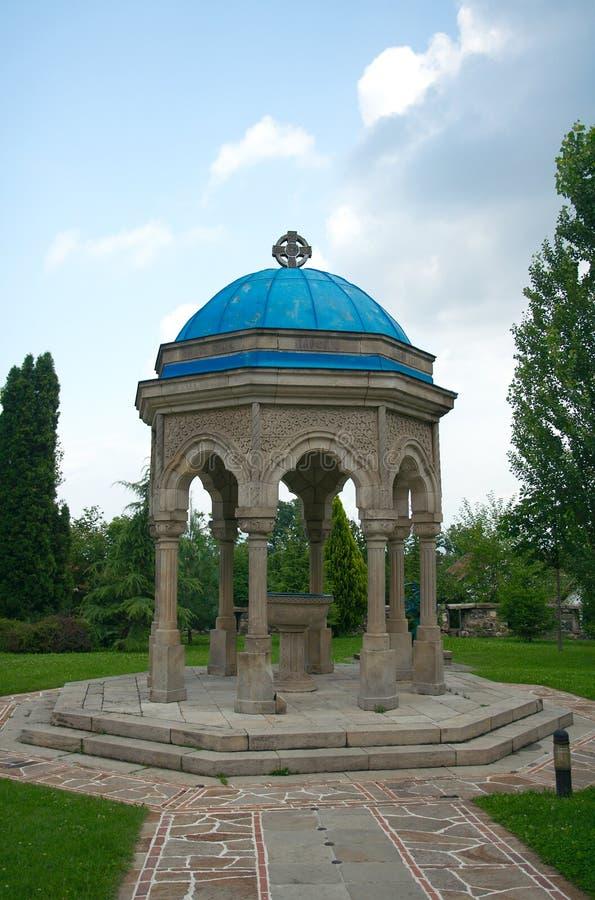 Rotunda z świętej wody pucharem obrazy royalty free