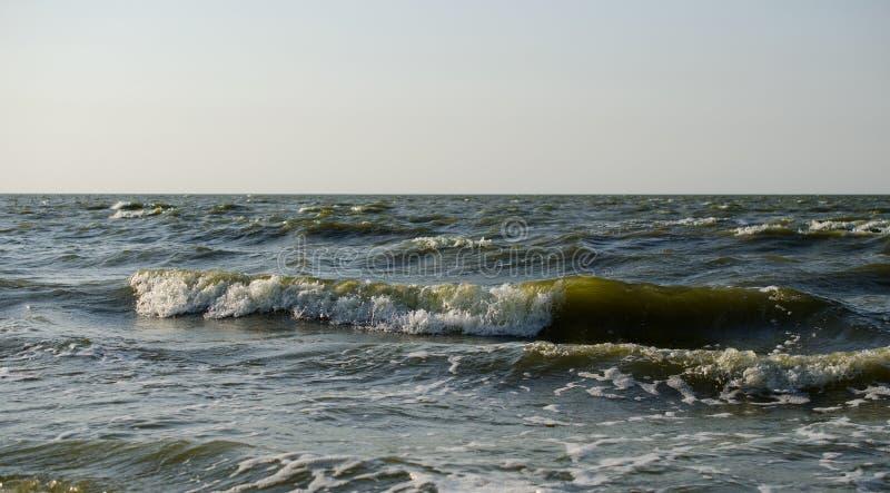Rotura de las ondas en la costa foto de archivo libre de regalías